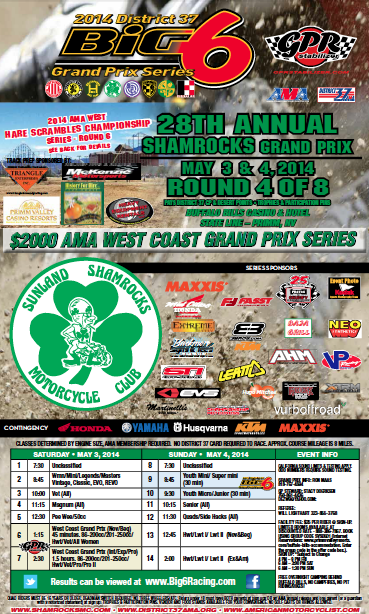 2014 Shamrocks MC GP Flyer